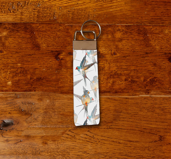 'A Flight of Swallows' Keyring