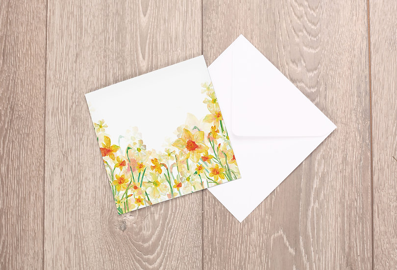 'Spring Daffodils' Greetings Card