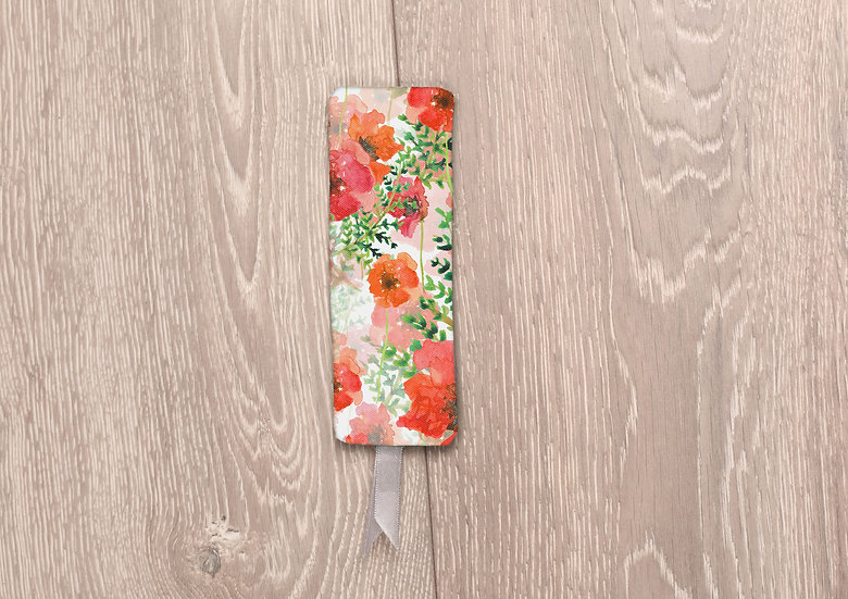 'Poppy Field' Bookmark