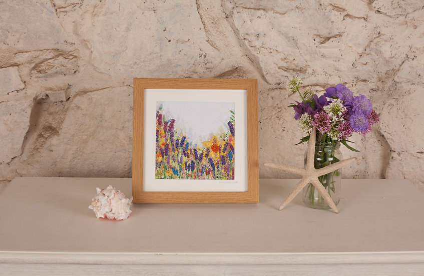 'Paradise in Bloom' Embroidered Fabric Print