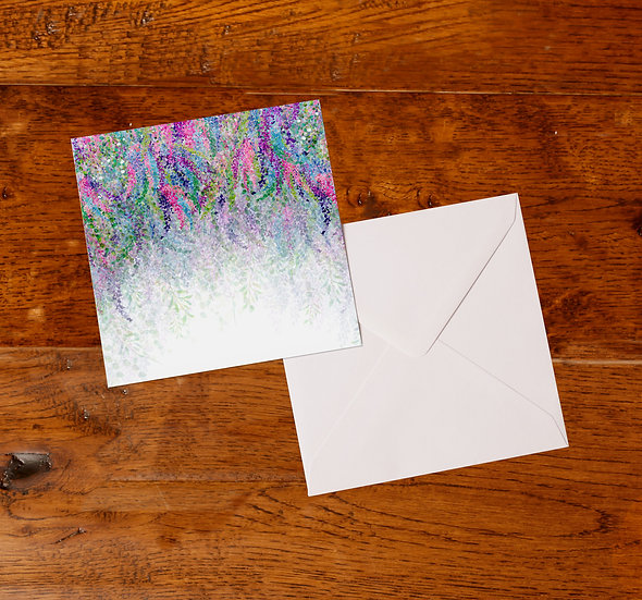 'Lilac' Greetings Card