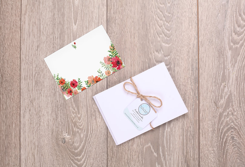 'Poppies' Notecards