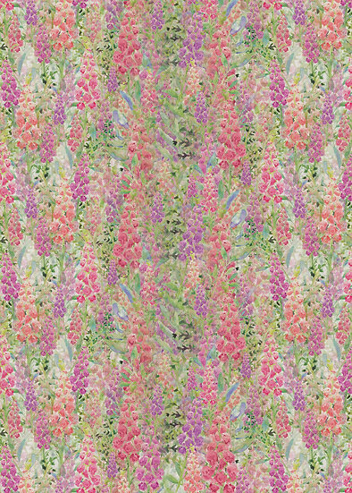 'Foxglove Frenzy' Fabric