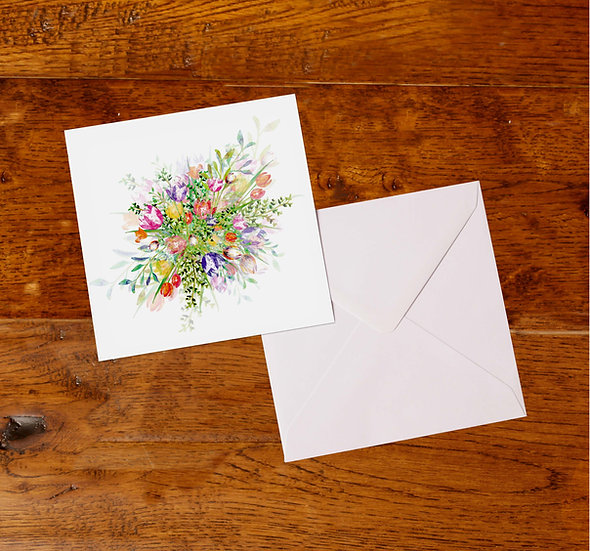 'Tulip Explosion' Greetings Card