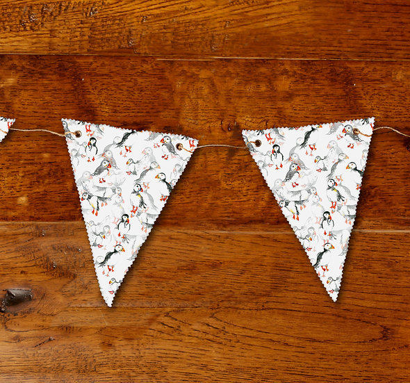 'Puffin Frenzy' Bunting