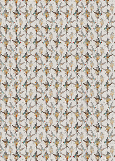 'A Flight of Swallows' Fabric