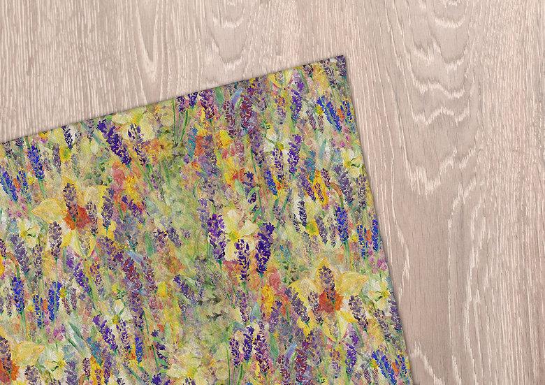 'Blooming Field' Tea Towel