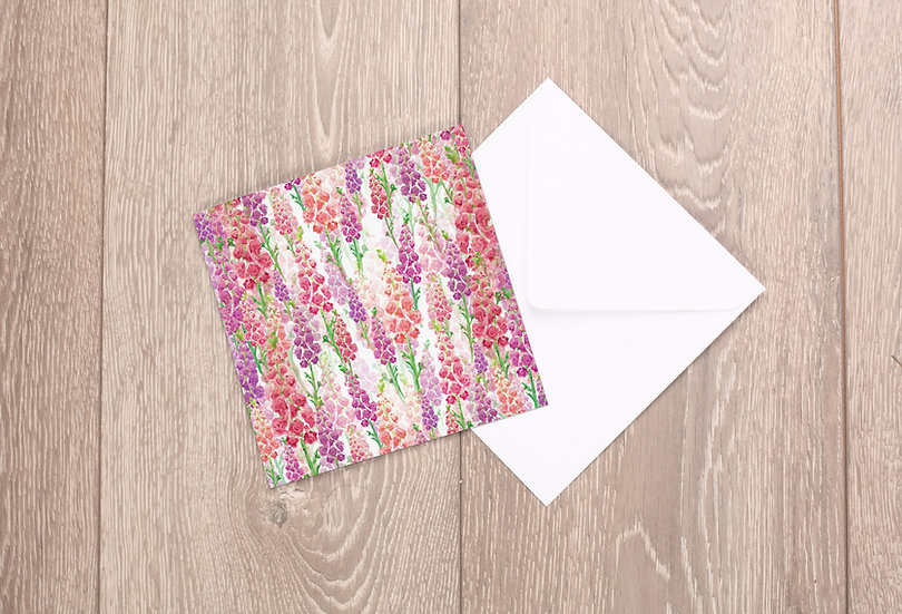 'Foxglove Clusters' Greetings Card