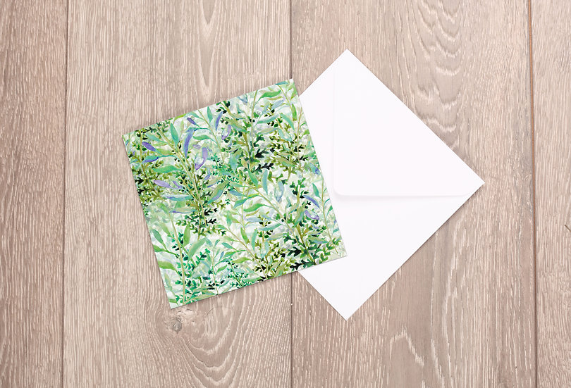 'Spring Foliage' Greetings Card