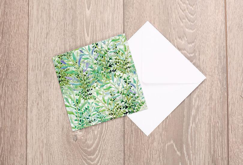 'Spring Foliage' Greetings Card