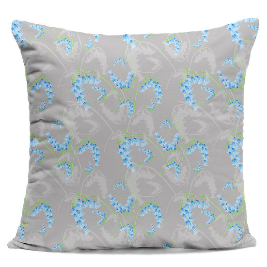 Tossed Bluebell Cushion