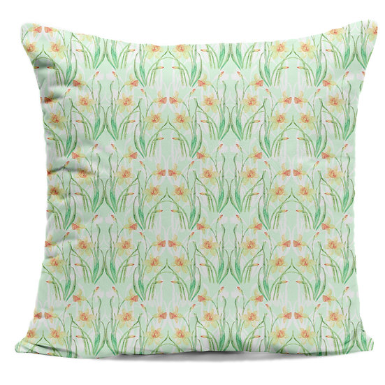 Daffodil Reflections Cushion