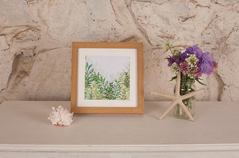 'Foliage' Embroidered Fabric Print