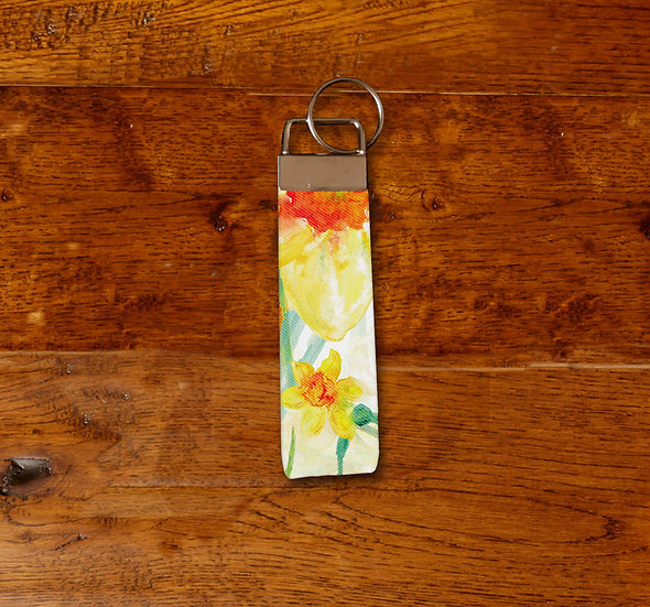 'Daffodil Blooms' Keyring