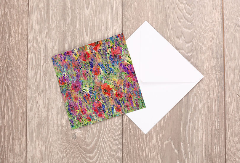'Flower Explosion' Greetings Card