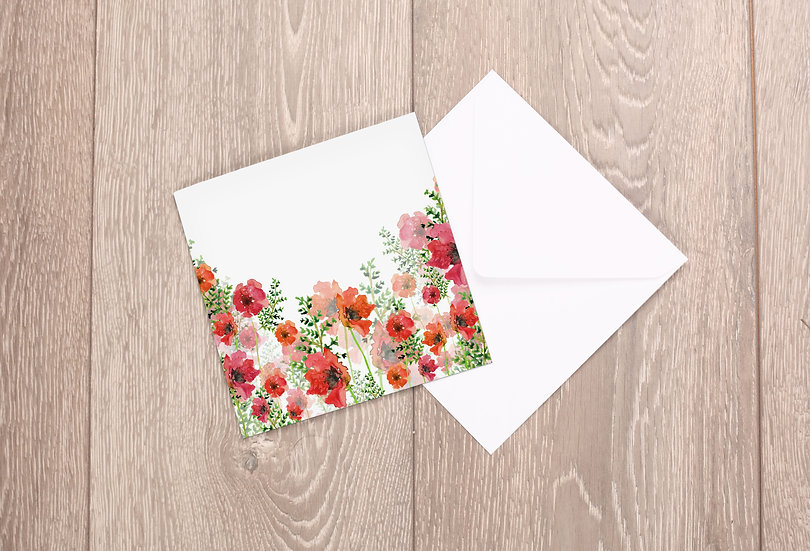 'Poppies' Greetings Card