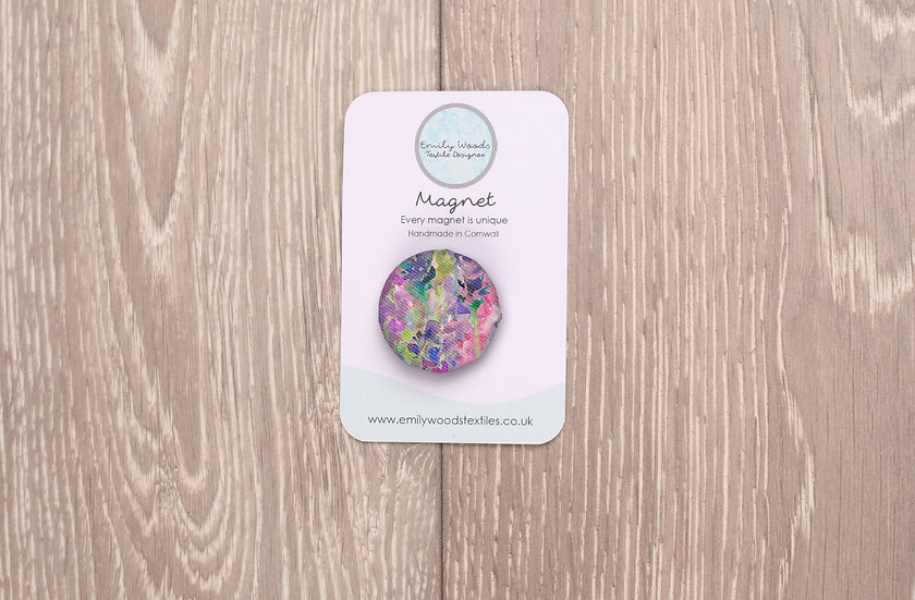 'Flower Passion' Fabric Magnet