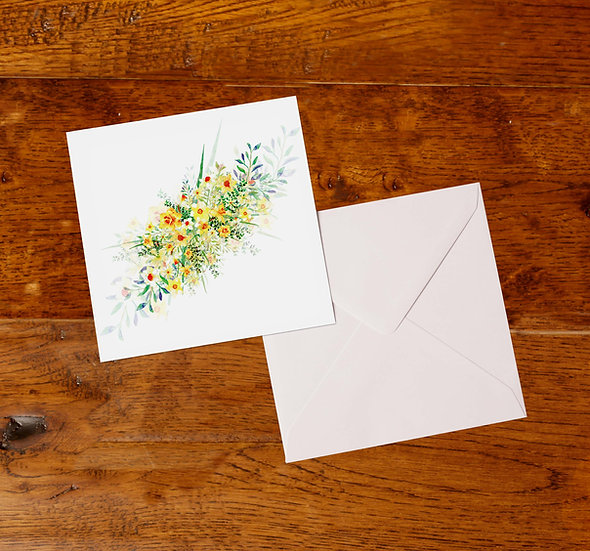 'Daffodil Bouquet' Greetings Card