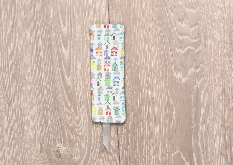 'Beach Huts' Bookmark