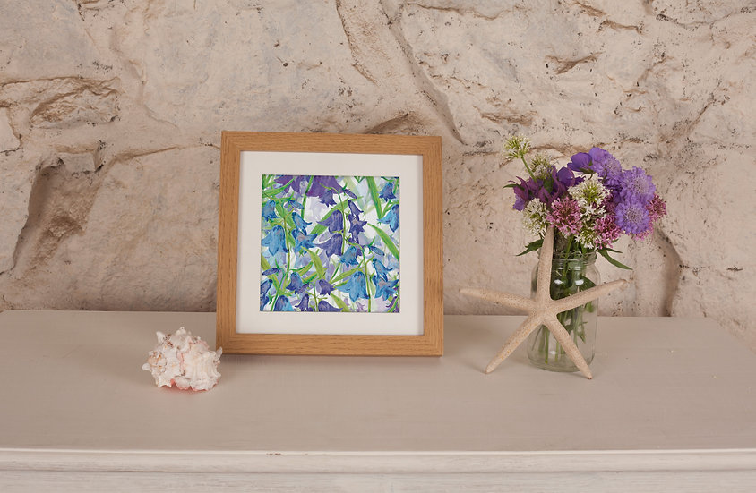 'Bluebell Clusters' Print
