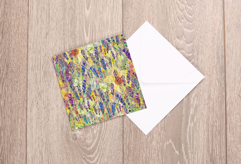 'Blooming Field' Greetings Card