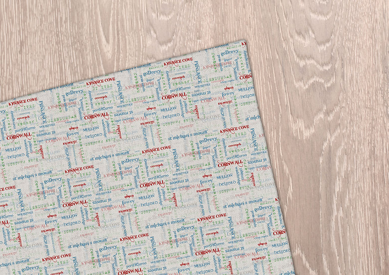 'Cornwall by Words' Tea Towel