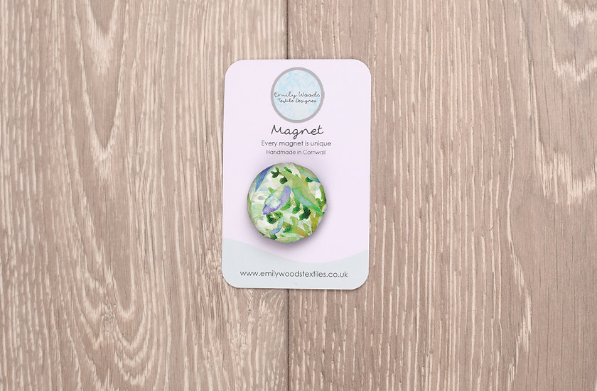 'Spring Foliage' Fabric Magnet
