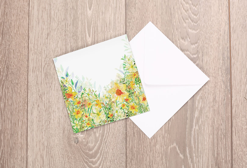 'Wild Daffodils' Greetings Card