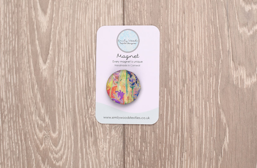 'Blooming Field' Fabric Magnet