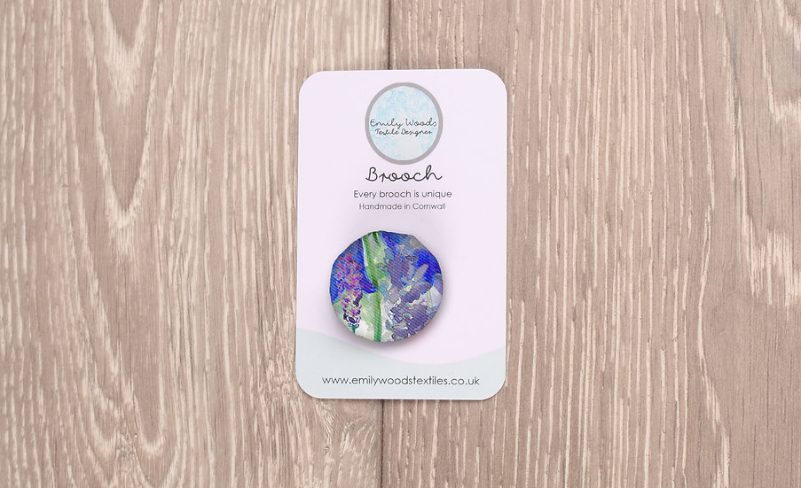 'Blooming Bluebells' Fabric Brooch