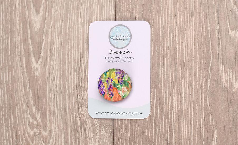 'Flower Explosion' Fabric Brooch