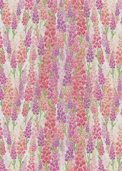 'Foxglove Clusters' Fabric