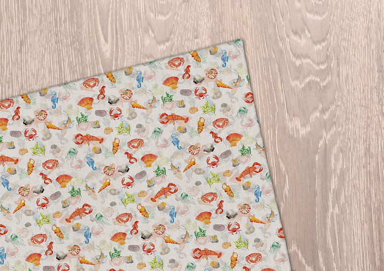 'Under the Sea' Tea Towel