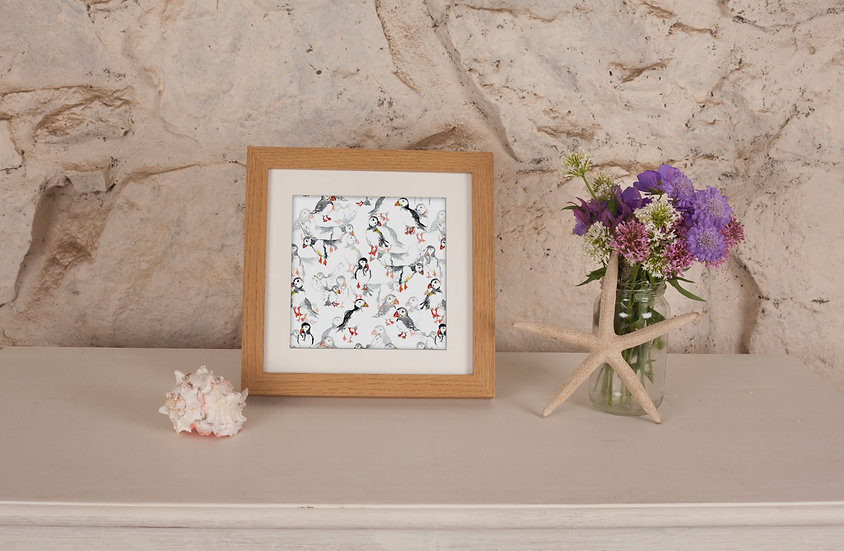 'Puffin Frenzy' Print