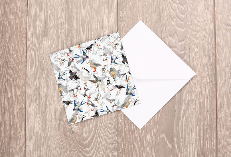 'Scattered Birds' Greetings Card