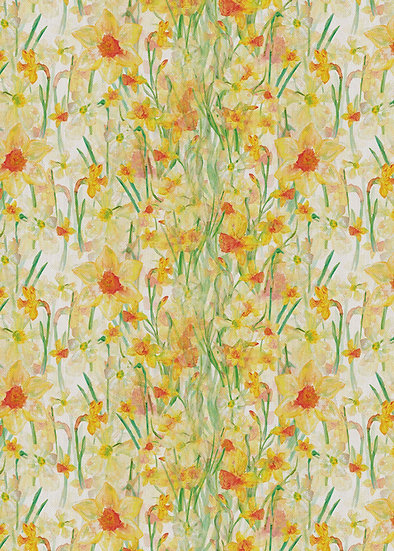 'Daffodil Blooms' Fabric