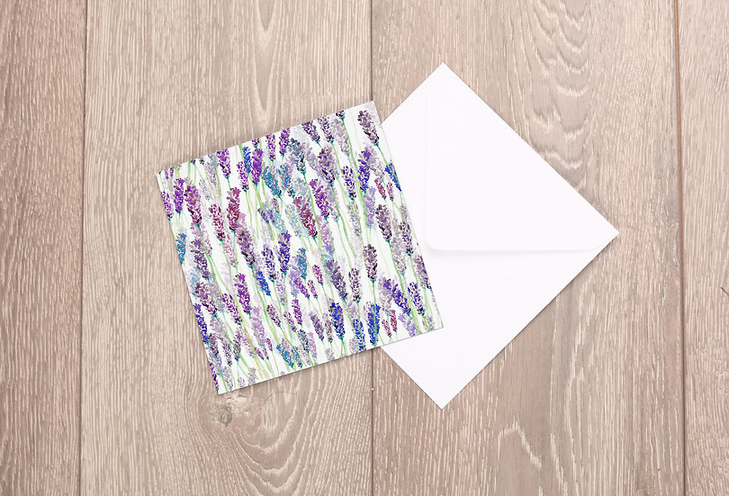 'Lavender Field' Greetings Card
