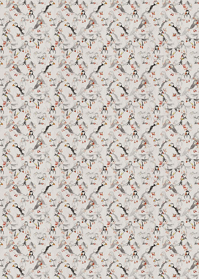 'Puffin Frenzy' Fabric