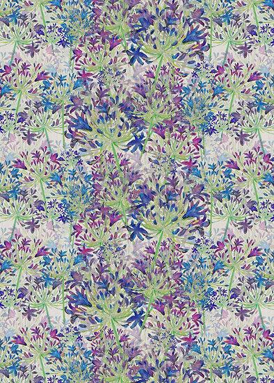 'Wild Agapanthus' Fabric