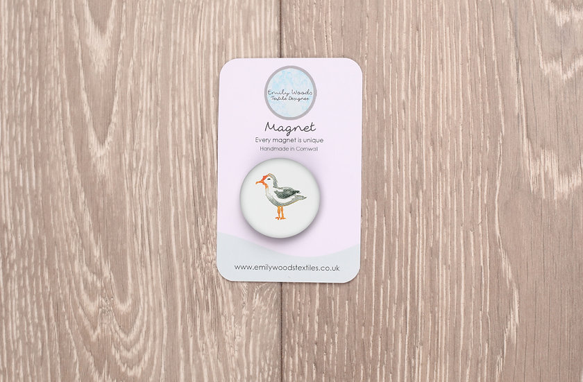 Seagull Fabric Magnet