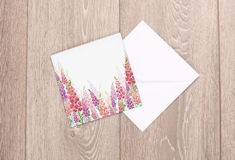 'Wild Foxgloves' Greetings Card