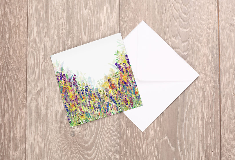 'Paradise in Bloom' Greetings Card