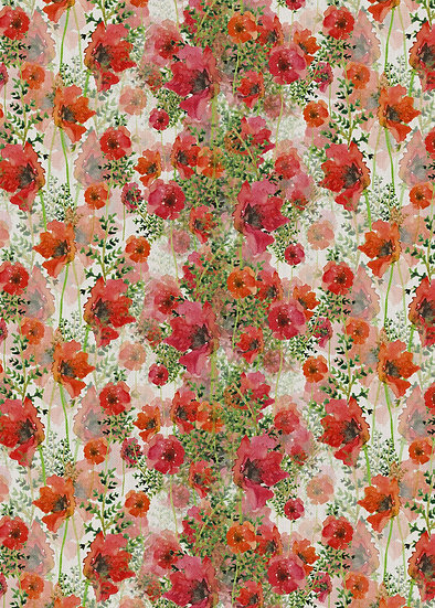 'Poppies' Fabric