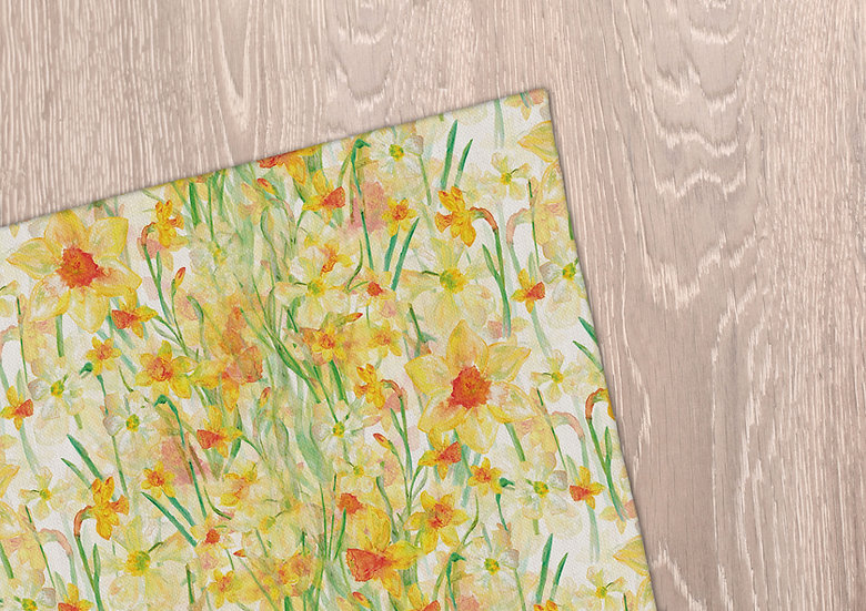 'Daffodil Blooms' Tea Towel