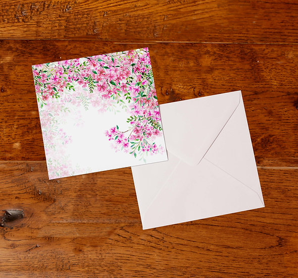 'Cherry Blossom' Greetings Card