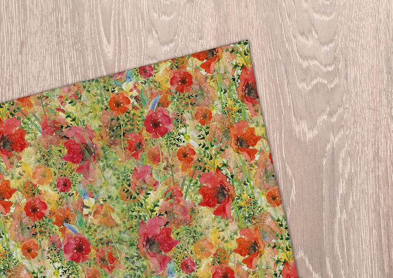 'Fiery Flowers' Tea Towel