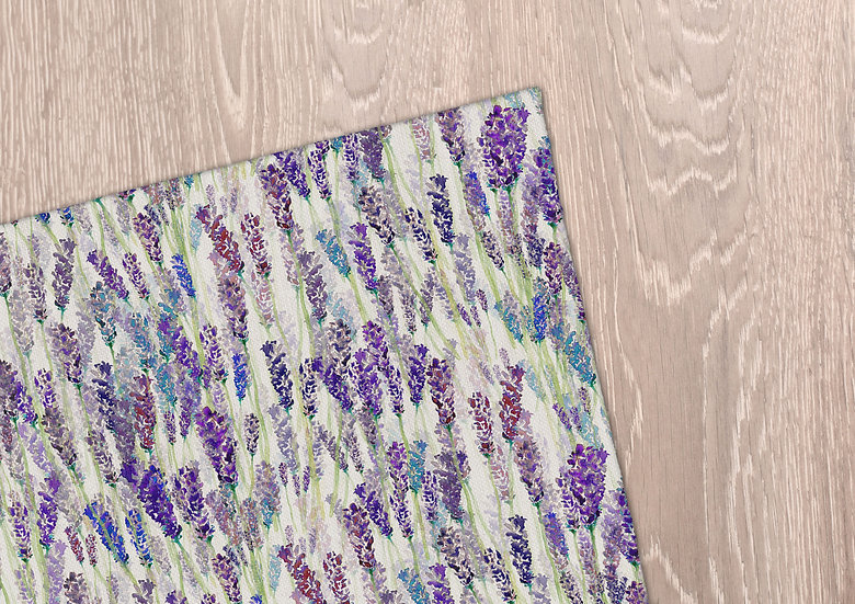 'Lavender Field' Tea Towel