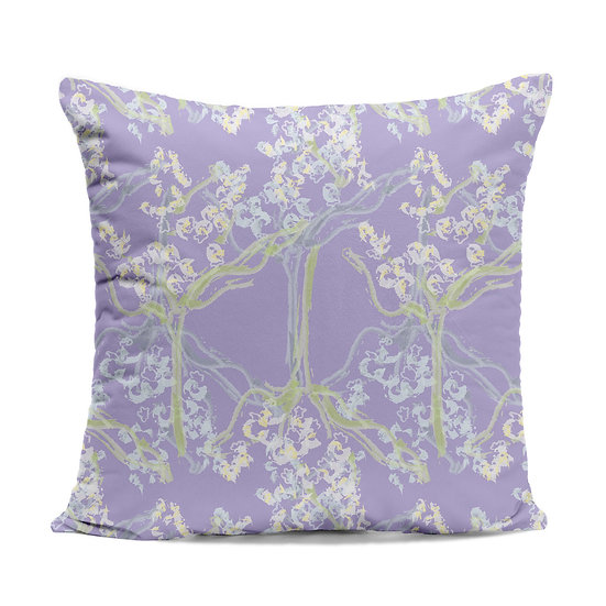 Purple Lily of the Valley Cushion
