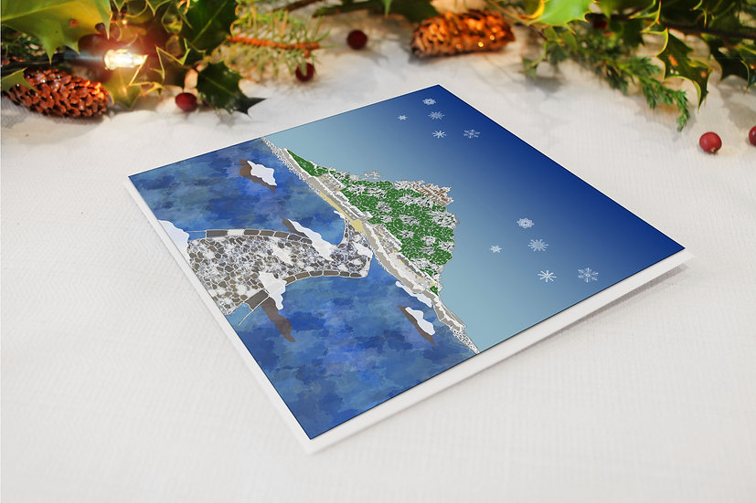 St Michael's Mount in Winter Christmas Card