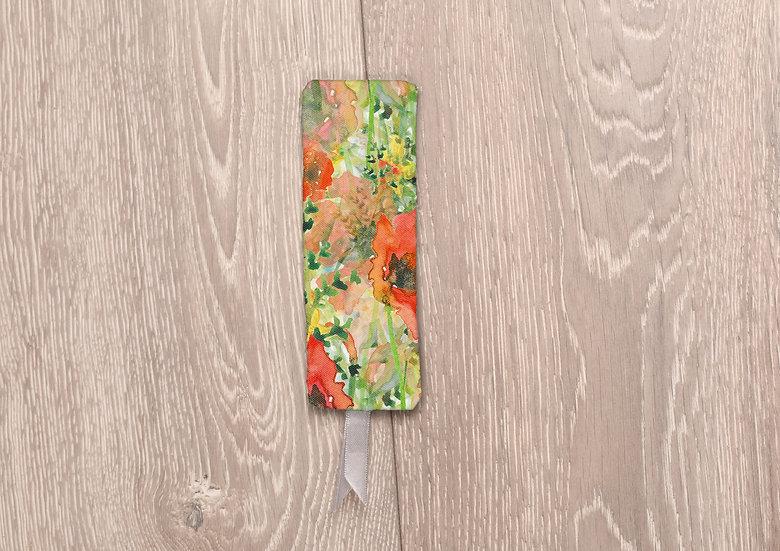 'Fiery Flowers' Bookmark